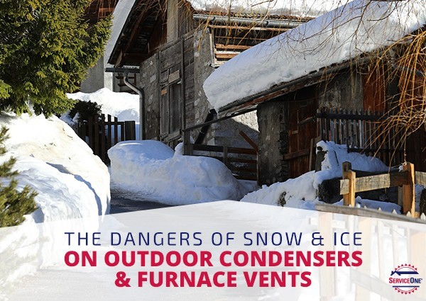 The Dangers Of Snow & Ice On Outdoor Condensers & Furnace Vents