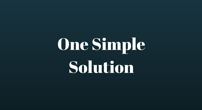 One Simple Solution